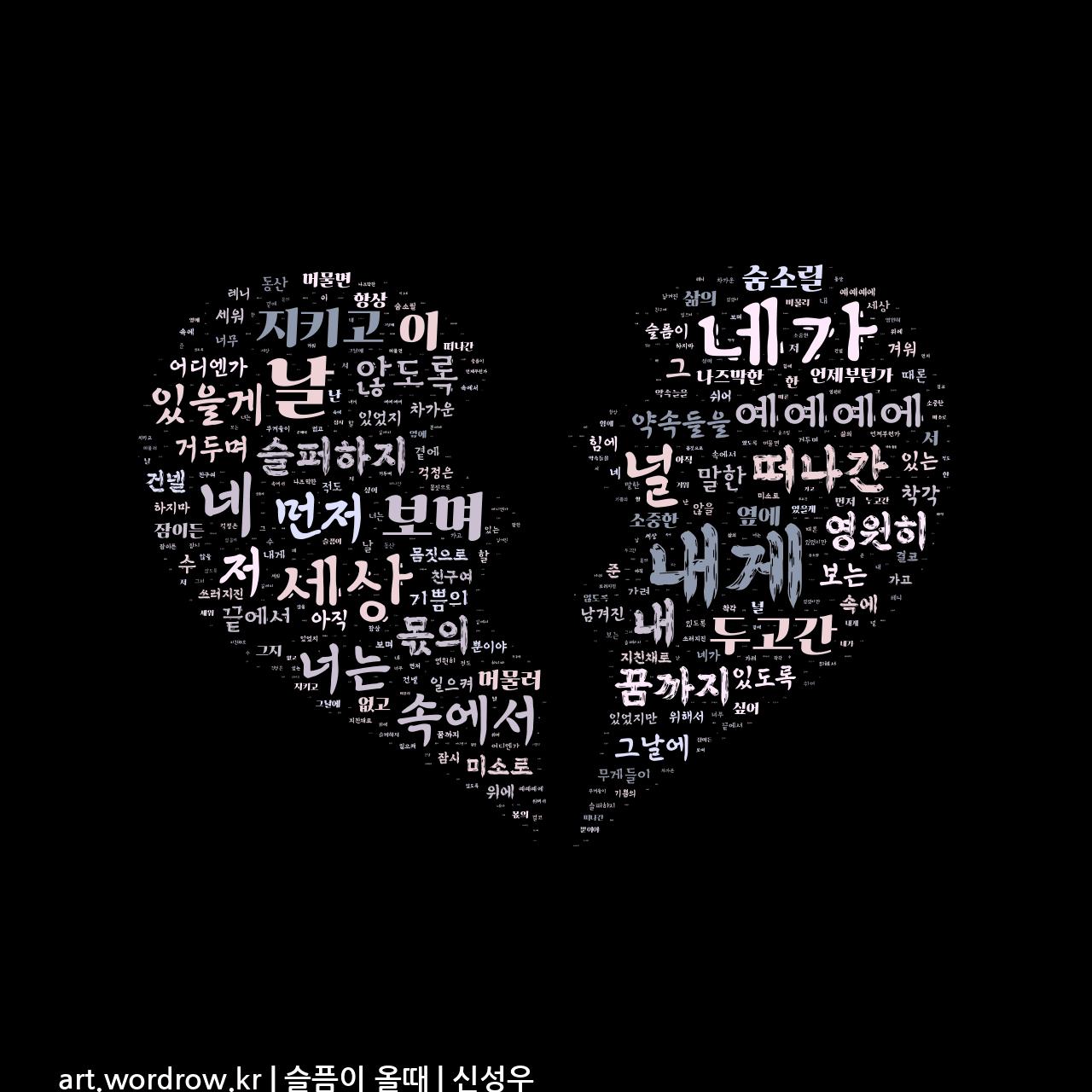워드 클라우드: 슬픔이 올때 [신성우]-40